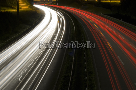 noc nocy autostrada transport drogowy droga