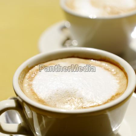cappuccino kawa essen cappuccini cappuccinos draufsicht