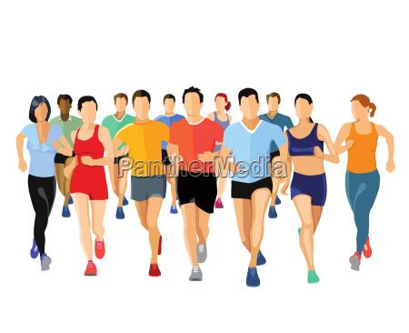 grupa biegaczyilustracja
